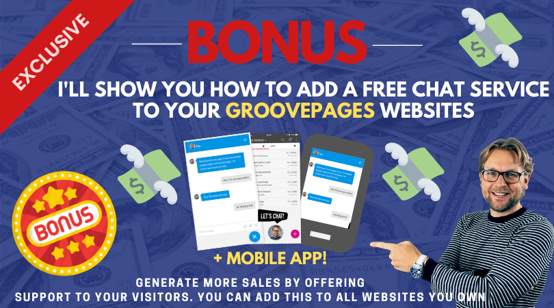Add a chat to your GroovePages website