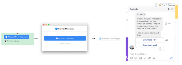 Messenger in action
